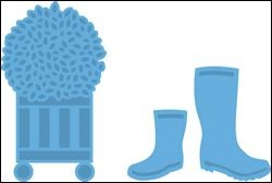 lr0316 Creatables stencil boots and buxes