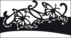 cr1267 Craftables stencil butterfly