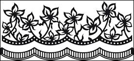 cr1273 Craftables stencil Anja`s flowers
