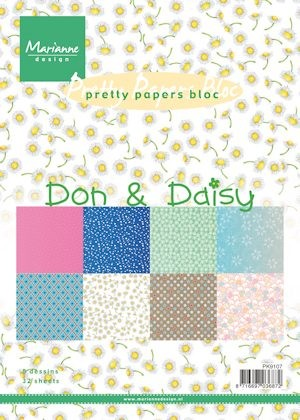 pk9107  Pretty Papers bloc Don & Daisy