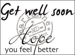 cs0895 Clear stamp get well soon