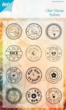 Clear stamp - Buttons - Just a Note
