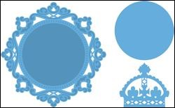 lr0317 Creatables stencil Petra`s circle and crown