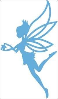 lr0323 Creatables stencil fairy star