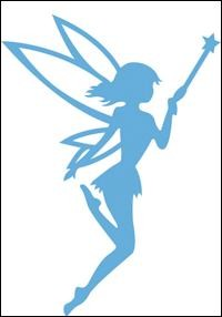 lr0324 Creatables stencil fairy magic