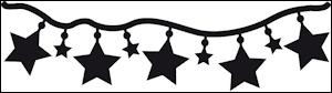 cr1280 Craftables stencil stars garland