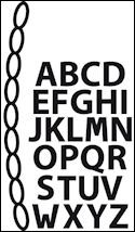 cr1281 Craftables stencil mini alphabet & garland