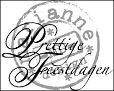 cs0897 Clear stamp prettige feestdagen