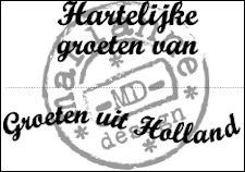 cs0898 Clear stamp groeten uit holland