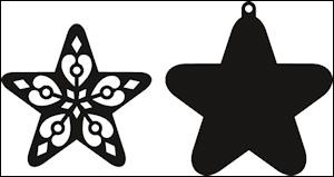 cr1284 Craftables stencil filigree star