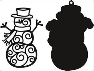 cr1285 Craftables stencil filigree snowman