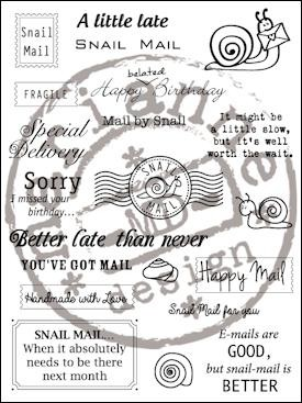 cs0899 Clear stamp snail mail