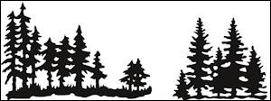 cr1287 Craftables stencil Tiny`s pinetrees