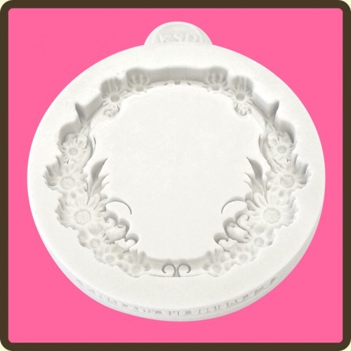 cupcake mould floral circle