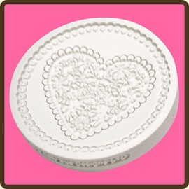 lace heart mould