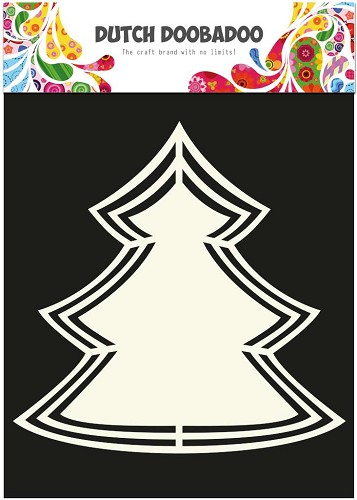 Dutch Doobadoo Dutch Shape Art frames Kerstboom A5