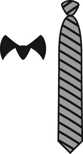 cr1292 Craftables stencil gentleman`s tie