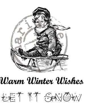 cr0905 Cling stamp warm winter wishes