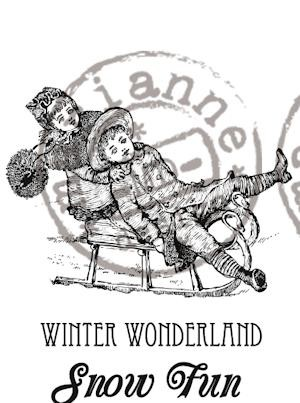 cs0907 Cling stamp winter wonderland