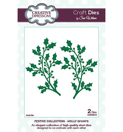 Craft Dies - Holly Sprays