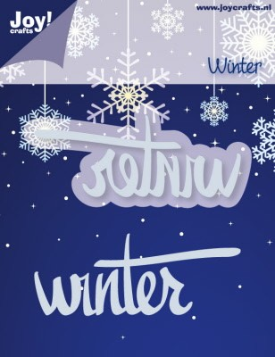 Snij- en Embossing stencil winter