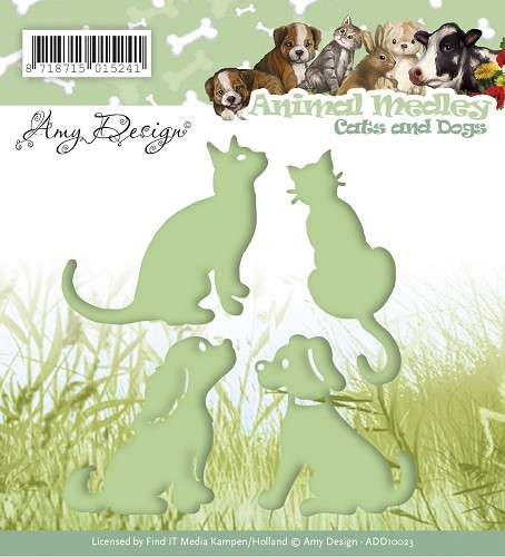 Die - Amy Design - Animal Medley - Cats and Dogs