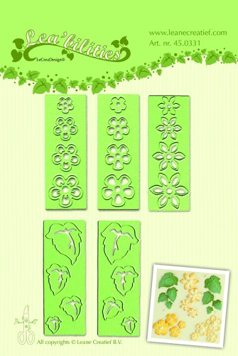 45.0331 Lea`bilitie® Small flowers & leaves snij en embossing mal