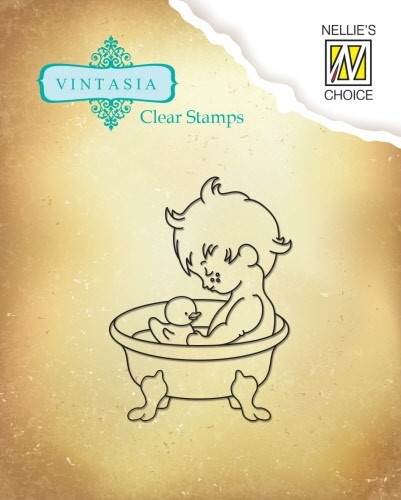 "VINS001 Clear stamps Vintasia ""Sweet Home"""