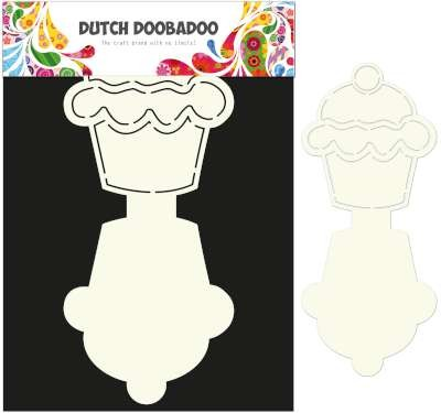Dutch Doobadoo Dutch Card Art Stencil Cupcake A4