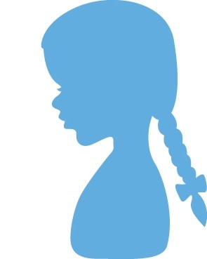 lr0350 Marianne D Creatable Silhouette girl with braids