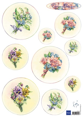 it574 Marianne D 3D Knipvellen Bouquet - Spring