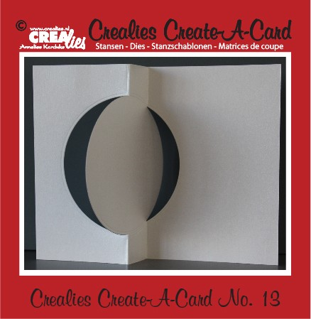 Crealies Create A Card no. 13 stans voor kaart