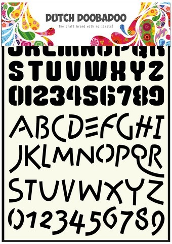 Dutch Doobadoo Dutch Stencil Art A4 Alphabet 4 A4