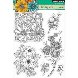 "Penny Black Clear Stamps 5""X7.5"" Sheet Bouquets"
