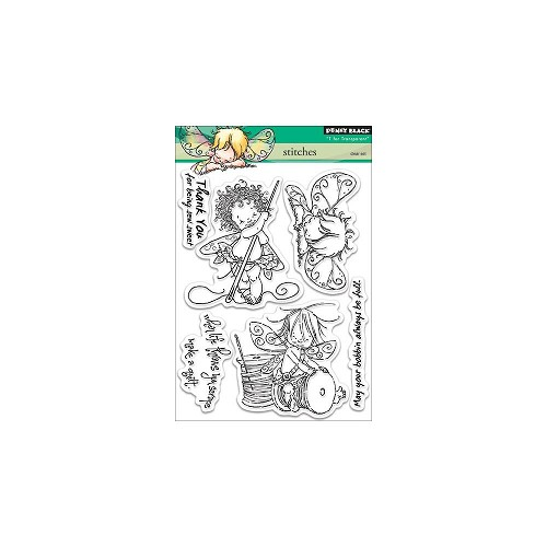 "Penny Black Clear Stamps 5""X6.5"" Sheet Stitches"