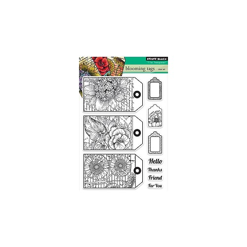 "Penny Black Clear Stamps 5""X7.5"" Sheet Blooming Tags"