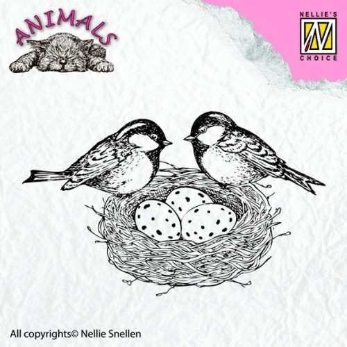 ANI013 Clear stamps animals Birdsnest