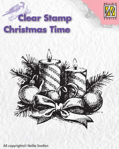 CT010 Clear stamps Christmas Time candles