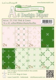 Design papier assortiment pink/green 16xA5