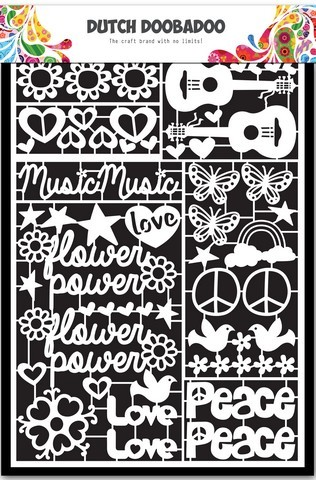 Dutch Doobadoo Dutch Paper Art Flower Power A5