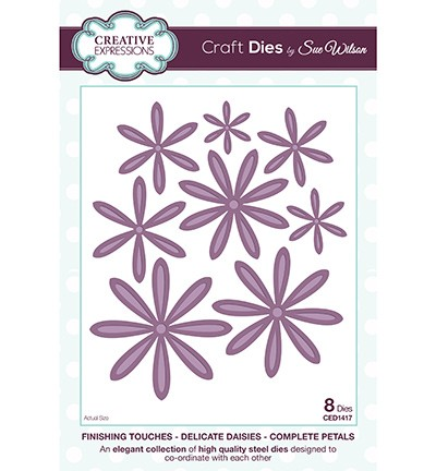CED1417 - The Finishing Touches Collection - Delicate Daisies-Complete Petals