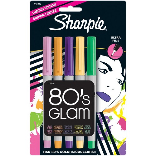 Sharpie Ultra Fine Point Limited Ed Permanent Markers 5/Pkg