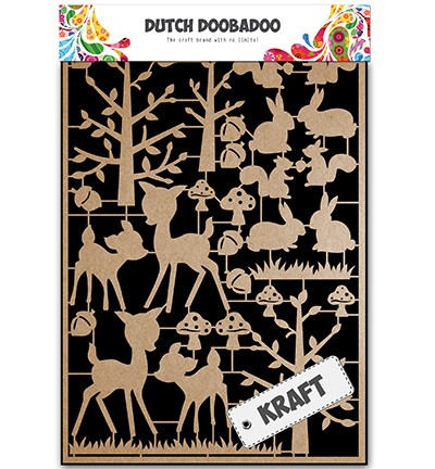 Dutch Doobadoo Dutch Kraft Art - Dutch Craft Art Forest Animals