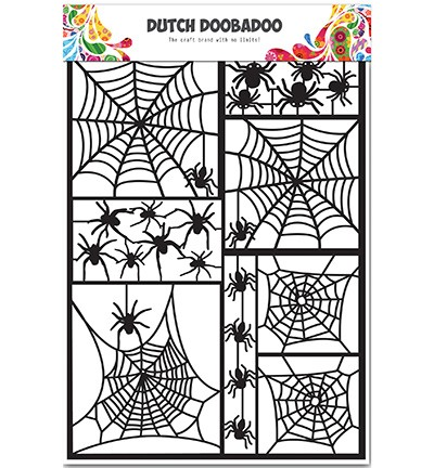 Dutch Doobadoo Dutch Paper Art - Dutch Paper Art Black Spider