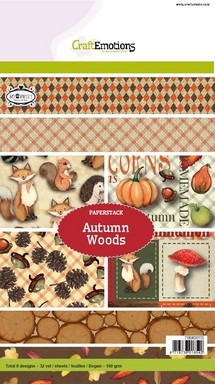 CraftEmotions Paper stack Autumn Woods 32 vel A5