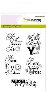 CraftEmotions clearstamps A6 -tekst EN you are my sunshine