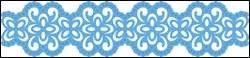 lr0386  Creatables stencil border retro