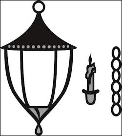 cr1344 Craftables stencil lantern
