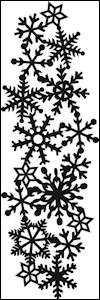 cr1346 Craftables stencil ice crystals border