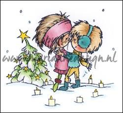 dds3354 Clear Stamp a christmas romance